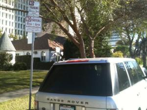 permit parking sign and handicap placard abuser